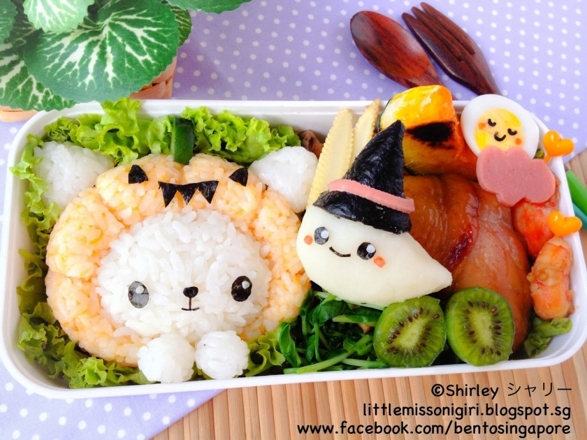 Halloween Kitty and Boo Bento (2)